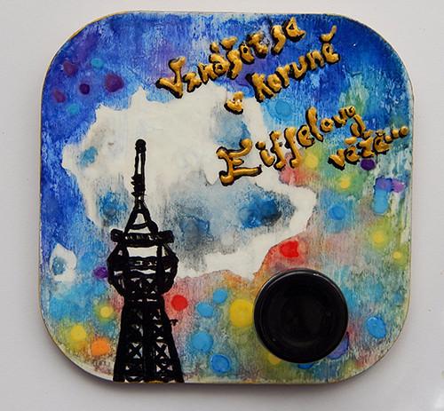 Paříž - závěsný stojánek (nejen) na bižuterii