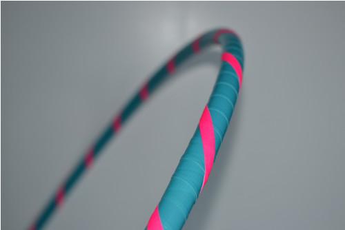 Obruč hula hoop tyrkysovo-růžová 95 cm