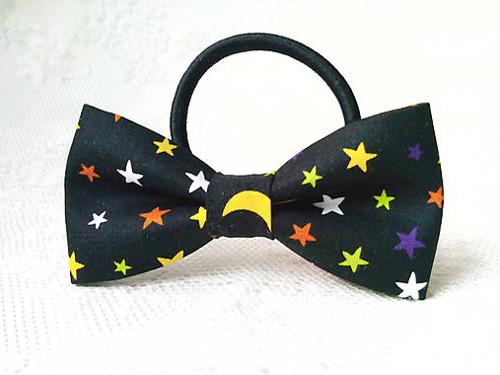 Night sky hair bow