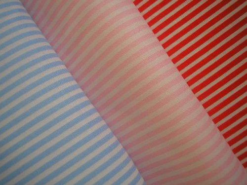 látka - metráž - proužky - světle růžová