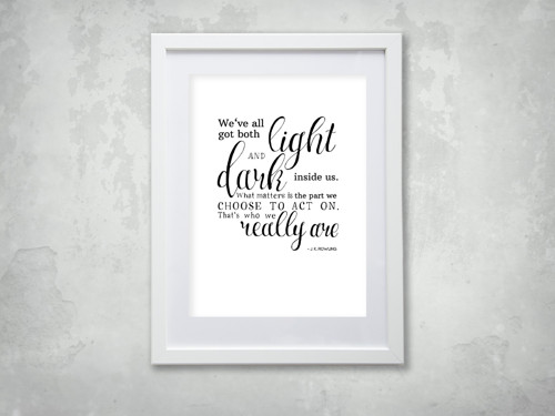 Citát z Harryho Pottera pro Vaši stěnu II.