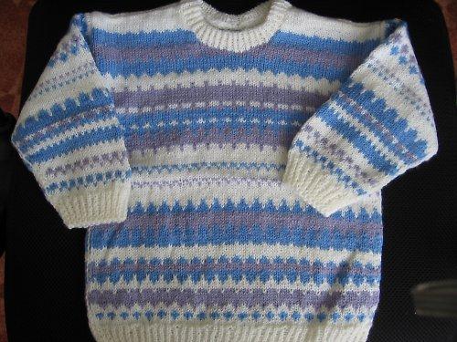 Dětský modro-bílý svetřík