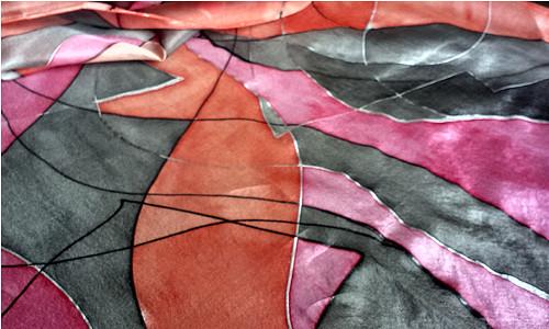 Kubismus (červeno-šedý)