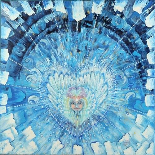Andělský zářič (reprodukce 50x50 cm)