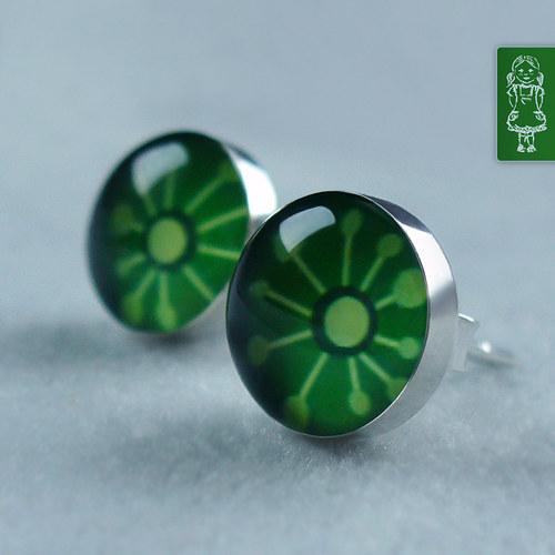 Tmavě zelení marťánci - stříbro