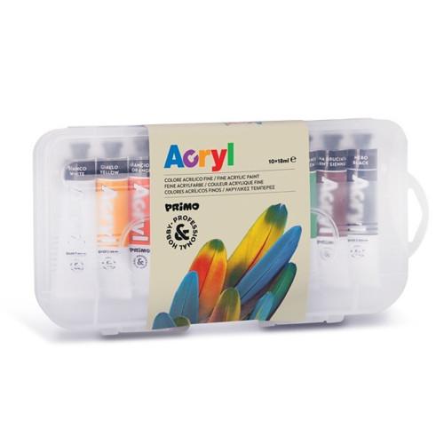 Akrylové barvy Primo 10*18ml