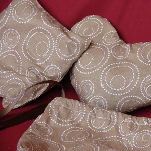 Pohankové polštářky - dárkový set - hnědý