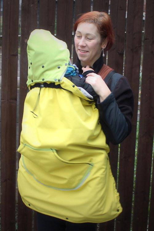 Žluto zelená zateplená kapsa 2v1 :)