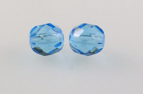 Ohňovky sklo pr.8mm (20ks) - azurová