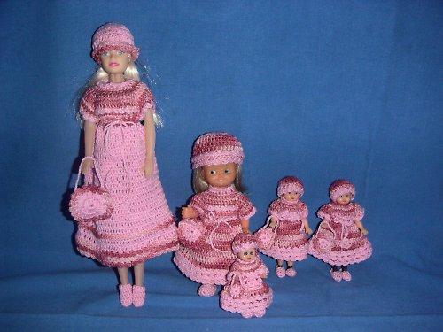 Růžové šatky na Panenku Barbie
