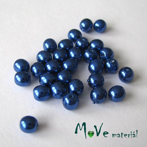 České voskové perle modré 5mm, 30ks (cca 5g)
