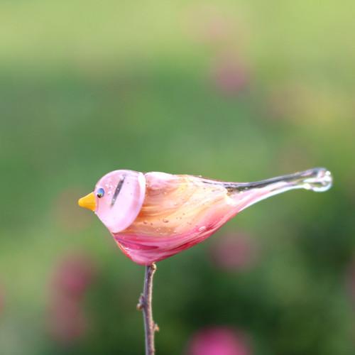 Vinutý ptáček - akvarelový - 45 mm