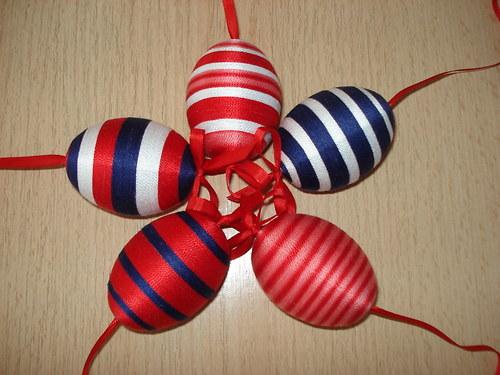 Velikonoční vajíčka - v našich barvách - SADA 5 ks