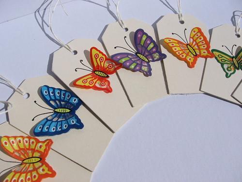 Motýlkové visačky