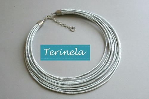 Náhrdelník Stříbřité světlo © design Terinela
