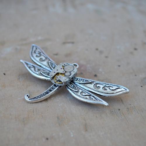 Steampunková brož - vážka