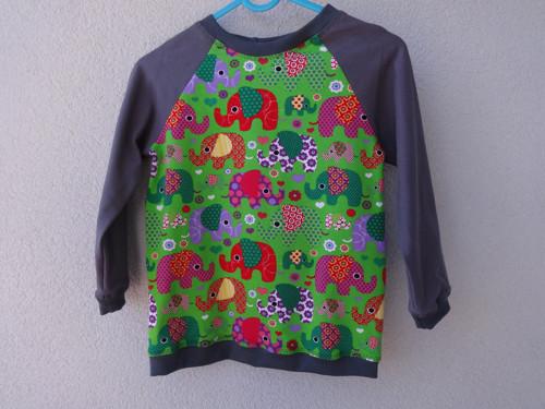 Tričko sloni na zelené vel. 92-98