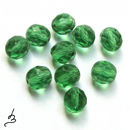 Broušené zelené 8 mm, 20 ks