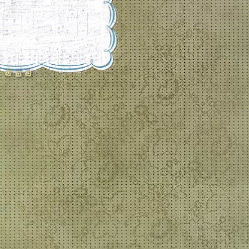 Collage Musings scrapbook čtvrtka 12x12 emboss