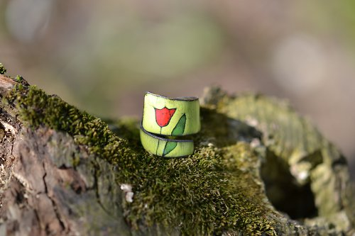 tulipán..na zelené