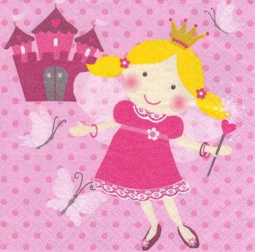 Ubrousek - princezna s hradem (AKCE - 2 ks)