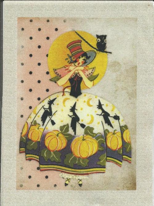 bavlněná látka - panel 8 x 11,5 cm