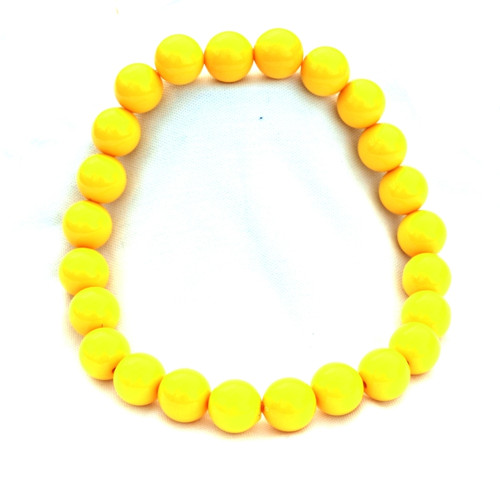 Žluté velké korále na krk