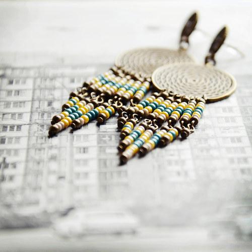 naušničky dluhatánské indiánské....