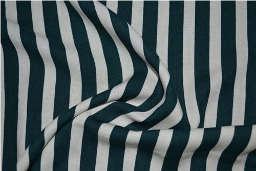 Viskoza - zeleno-bílý proužek