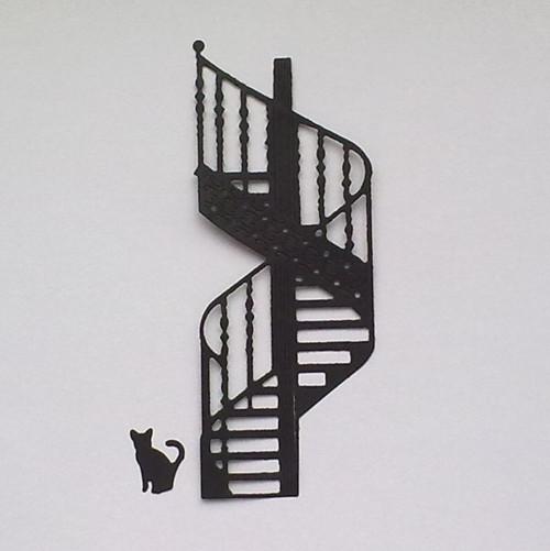 Výsek - Schodiště a kočka