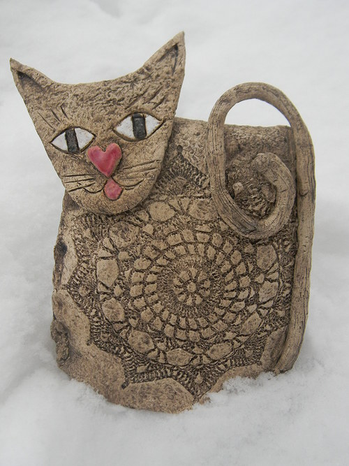 Keramická kočička