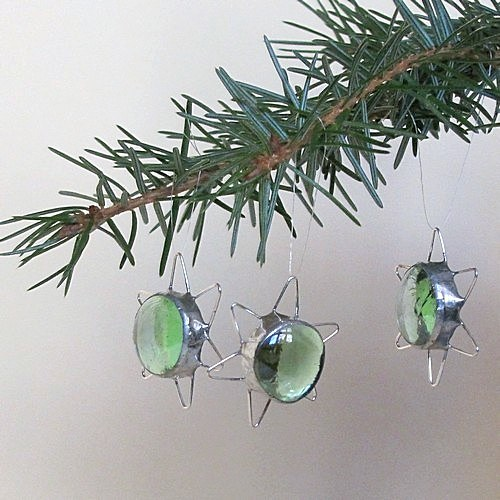 Vianočné dekorácie - Zelená hviezdička