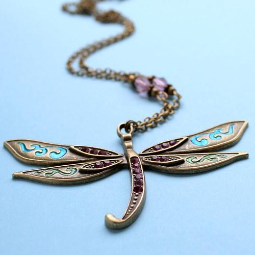 Luxusní vážka - náhrdelník