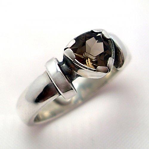 Prsten «Korunka» - Ag 925/1000, přírodní záhněda