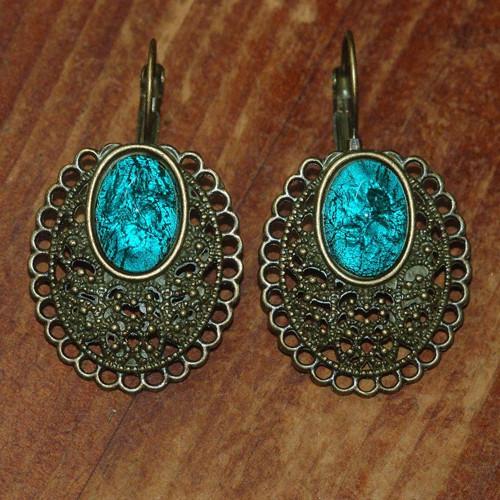 Smaragdové vintage klapky