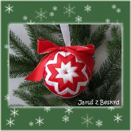 Vánoční koule (červená a bílá)
