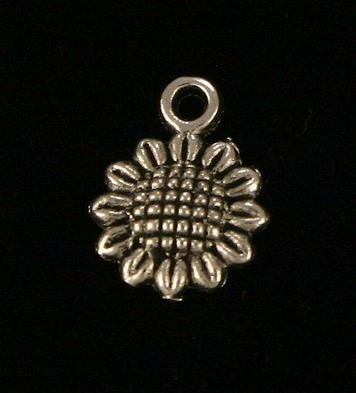 Přívěsek - malá slunečnice (5 ks)