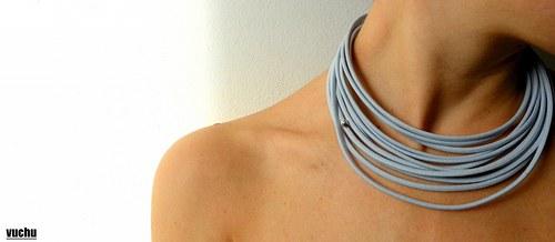 náhrdelník šedá elegance +náušnice zdarma