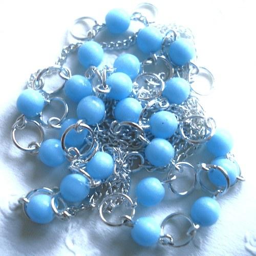 Bleděmodrý náhrdelník - SLEVA !!!