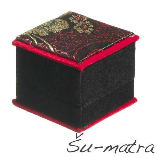 Vyšívaná dárková krabička, 6x6x5,5 cm