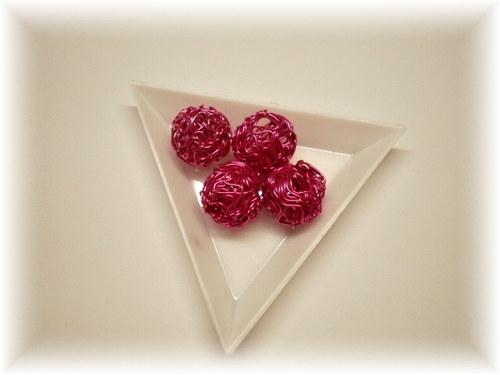 Růžové drátěnky, 4ks