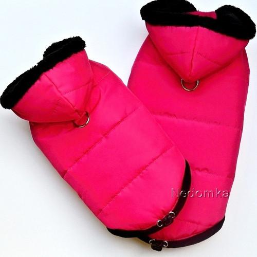 Zimní bunda pro psí holky Sytě růžová