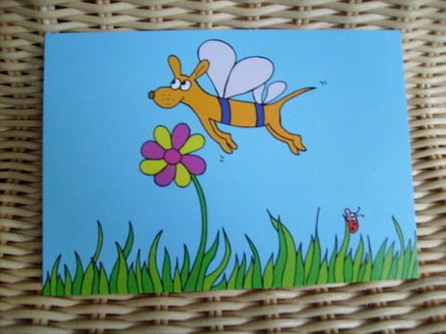 Pohlednice-Pes motýlák