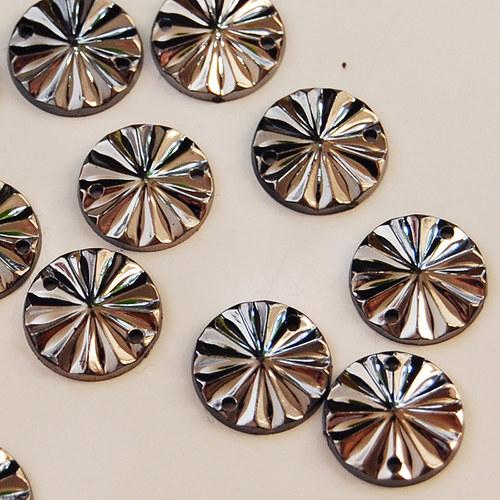 Našívací kamínek Kulatý Platina 10ks NK-151