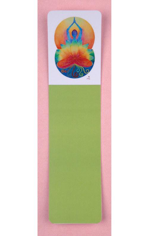 Záložka Jogín v lotosu, sametové lamino