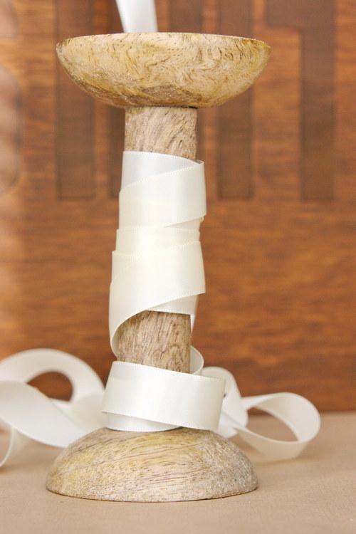 Saténová stuha 16mm, světlá vanilková