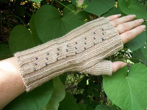 Pletené návleky na ruce