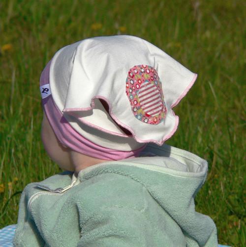 Dívčí bambusový šátek režno-růžový na 1rok