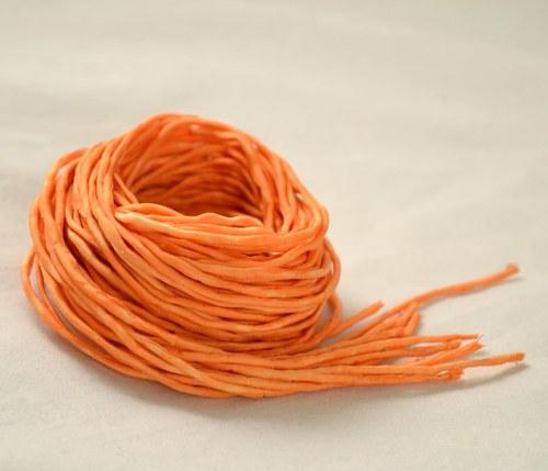 Hedvábná šňůrka oranžová