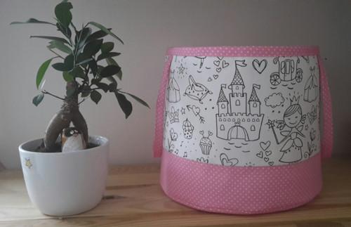 Textilní košík na hračky Princezny království